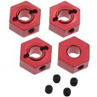 New STRC Traxxas 4-Tec 2.0 Red Aluminum Hex Adapters (4) ST8356R