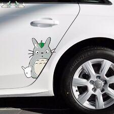 2PCS Totoro Cat Leaf Peeping Random Body Window Truck Car Stickers Wall Decals