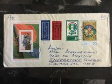 1979 Elsterwerda East Germany DDR Souvenir Sheet Cover To Quebec Canada