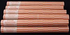 100 Preformed Coin Wrappers Quarters Heavy Duty Easy Storage Tubes Nested
