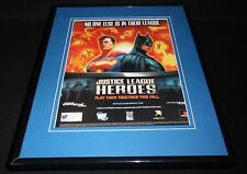 Justice League Heroes 2006 PS2 XBox Framed 11x14 ORIGINAL Vintage Advertisement