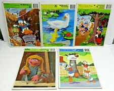 CHILDREN'S FRAME TRAY PUZZLES / LOT OF 5 / RANDOM PICTURES