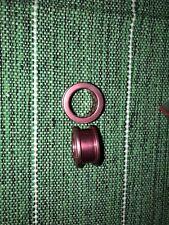 Red 20mm 13/16G Ear Stretching Plug Aluminium