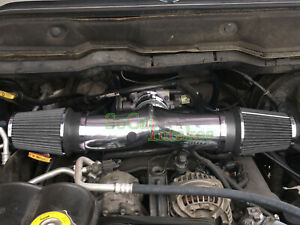 Chrome Black Dual Head Air Intake Set For 2004-2009 Jeep Liberty 3.7L V6