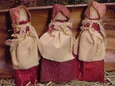 Primitive Prairie Corncob Doll Cupboard Tuck Bowl Filler Paper PATTERN