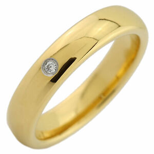 4, 6 or 8mm Gold Plated Tungsten Carbide Band Classic Half Dome Single CZ Ring