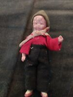 Antique celluloid Boy Doll 4in. Tall In Good Condition