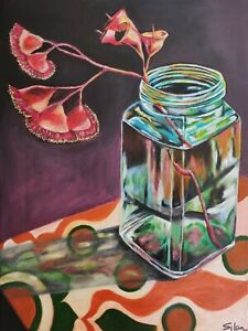 Original Acrylic Painting Artwork on canvas/Australia native plant gum blossom