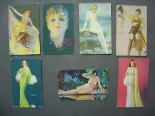 Lot  of  7  MUTOSCOPE  CARDS -