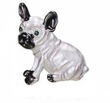 Small Silver French Bulldog Brooch