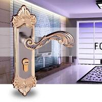Hot New Continental Antique Mechanical Locks Interior Door Handle Lock Set Gold