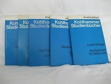 Konvolut Kohlhammer Studienbücher, Krankenpflege, 5 Bände