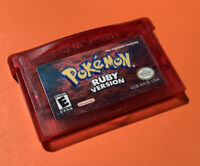 ORIGINAL AUTHENTIC Pokemon Ruby Version Gameboy Advance GBA Game | Dry Battery