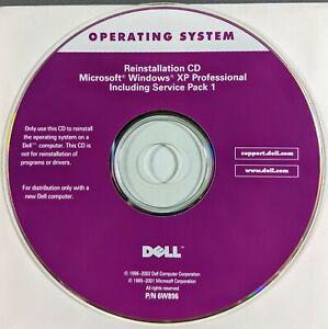 Dell Operating System Microsoft Windows XP Professional SP 1 Reinstallation CD