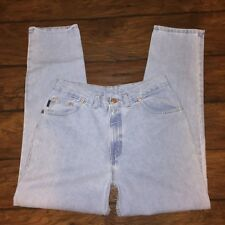 Chic Relaxed Fit Mom Jeans Size 14P Petite Tapered Leg Vintage Light Wash Denim