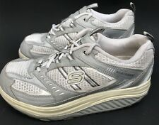 SKECHERS SHAPE UPS  WOMENS SIZE 8 1/2  TWO TONE PINK AND GRAY