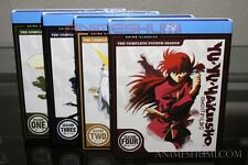 Yu Yu Hakusho Complete Series Seasons 1,2,3 & 4 Ep. 1-112 Anime Blu-ray Bundle!