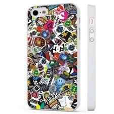 STICKER Bomb Skateboarding 1 Funda de teléfono blanco encaja iPHONE