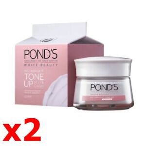 x2 POND'S White Beauty Insta Bright Tone Up Milk Cream skin white not oily face