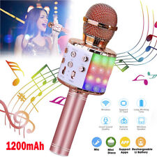 Wireless Bluetooth Karaoke Microphone Speaker Handheld KTV Player Mic Party