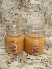 NEW. Yankee Candle Medium Jar Candle (14.5 oz) - HONEYCRISP APPLE CIDER-LOT OF 2