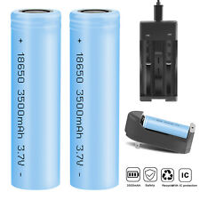 10Pcs 3500mAh 18650 Rechargeable Battery INR Li-ion Batteries With Case /Charger