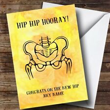 Personalised Funny Hip Hip Hooray Get Well Soon Card