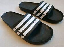 Adidas Duramo Black White Sandals Flip Flops Sliders UK 17 RRP £29.99