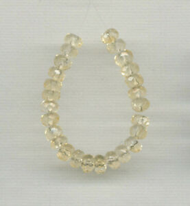 """FACETED CITRINE 6MM RONDELLE BEADS - 3.5"""" Strand - 1146"""