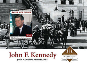 Papua New Guinea 2013 - President John F. Kennedy Stamp Souvenir sheet MNH