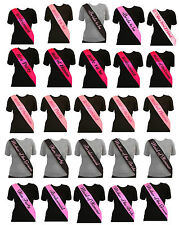 4 Colours Hen Party Sash Bride To 2 Be Bridesmaid Mother Of Maid Sashes Night Do