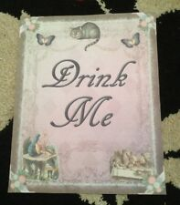 alice in Wonderland Drink Me Paper Party Signs birthday/Wedding decorations