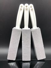 3X Pumice Stone Cleaner Scouring Handle Stick Toilet Bathroom Stain Remover