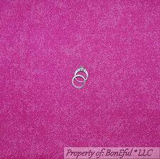 BonEful Fabric Fq Cotton Quilt Hot Pink Cow*Girl Bias Stripe Denim Country Retro