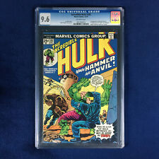 Incredible Hulk #182 CGC 9.6 - 2nd Wolverine after 181 OLD LABEL! Never pressed!