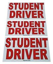 Ezinstall Magnetic Student Driver 3-Pcs Magnet Set In Red & White