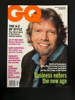 SEPTEMBER 1991 BRITISH GQ MAGAZINE - RICHARD BRANSON!  Jean Alesi,