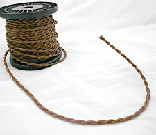 NOSTALGIC 2 Wire CLOTH Covered LAMP Cord AVAILABLE BY THE FOOT Free Shipping WOW