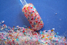 glitter mix acrylic gel nail art   RAINBOW ROCK CANDY