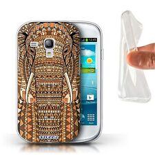 STUFF4 Gel/TPU Case/Cover for Samsung Galaxy S3 Mini/Aztec Animal Design