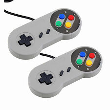 2 Pcs Super Nintendo Famicom SF SNES PC Controller Gamepad Joypad USB Windows