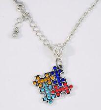 Autism Necklace Autistic necklace puzzle piece  Autism Awareness Jewelry speaks