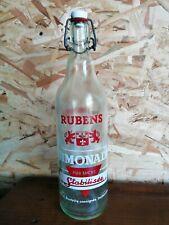 BOUTEILLE sérigraphié Limonade RUBENS rouge  vintage collection crêperie 100 cl