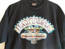 Harley Davidson Vintage 1994 Daytona Beach Bike Week Black Men's T Shirt Size XL