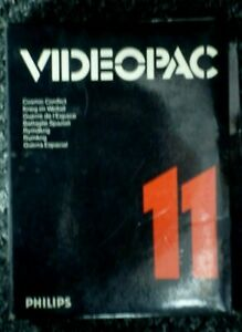 PHILIPS VIDEOPAC  11  Cosmic Conflict    G7000   HY