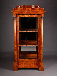 Three Page Glazed Cabinet IN Biedermeier Style