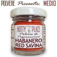 HABANERO RED SAVINA Polvere Peperoncino PICCANTE MEDIO 10g vaso