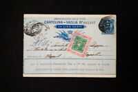 Italy Calabria with Revenue Stamp Cancelled on Card