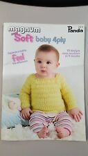 Panda Pattern Book #223 Magnum Soft Baby 4 Ply 10 Desigs to Knit for 0-9 Months