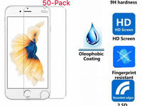 50x Wholesale Lot Premium 9H Tempered Glass For iPhone X 8 /7 / 7 Plus & 6 / 6 P